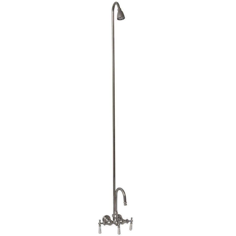 Ideas, clawfoot tub faucet with riser connection clawfoot tub faucet with riser connection barclay products 3 handle claw foot tub faucet without hand shower 1000 x 1000  .