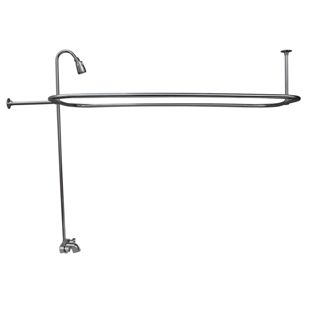 Ideas, clawfoot tub faucet with shower riser clawfoot tub faucet with shower riser pegasus 2 handle claw foot tub faucet with riser 54 in 1000 x 1000  .