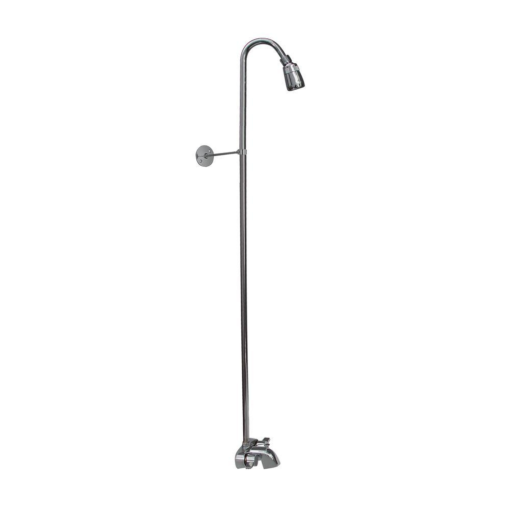 Ideas, clawfoot tub faucet with shower riser clawfoot tub faucet with shower riser pegasus 2 handle claw foot tub faucet without hand shower with 1000 x 1000  .