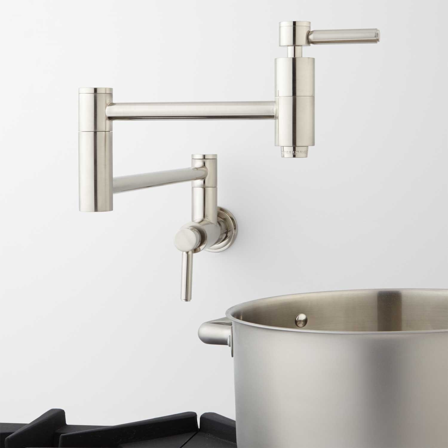 contemporary retractable wall mount pot filler faucet kitchen throughout size 1500 x 1500