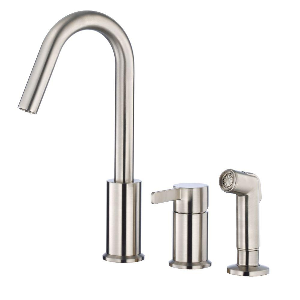 danze amalfi single handle standard kitchen faucet in stainless intended for size 1000 x 1000