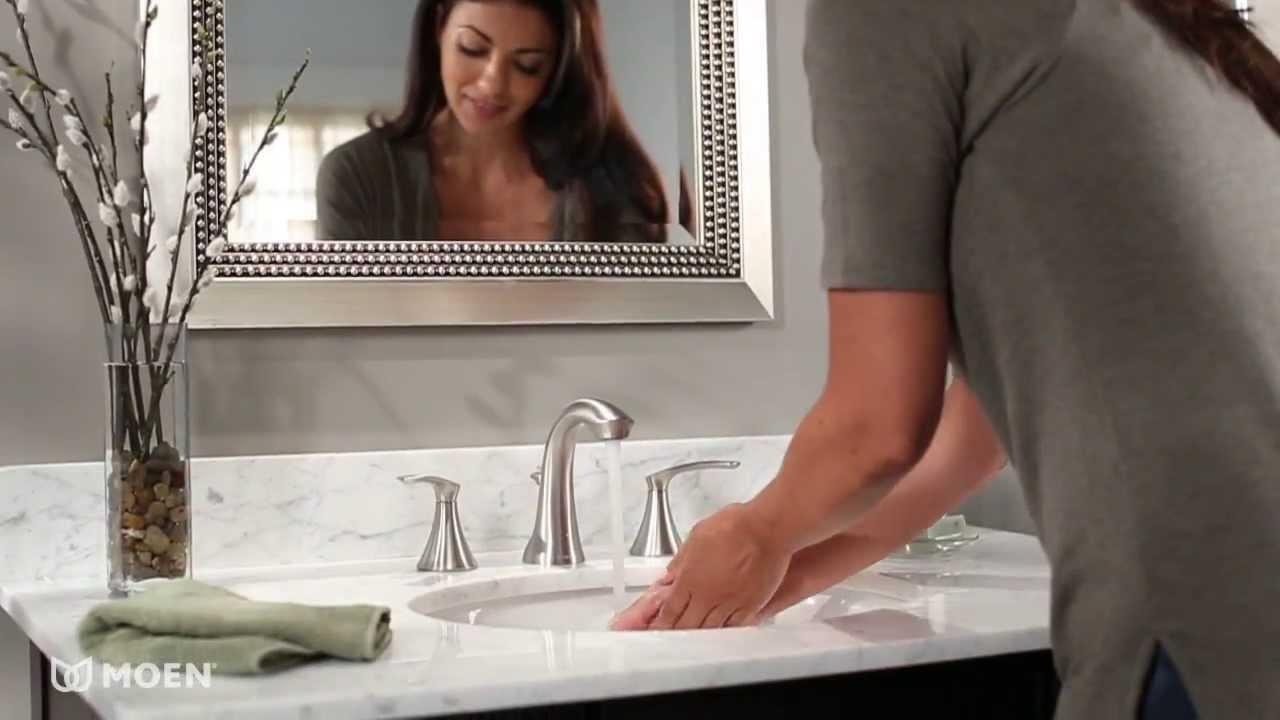 Ideas, darcy widespread bathroom sink faucet moen features spotlight with measurements 1280 x 720  .