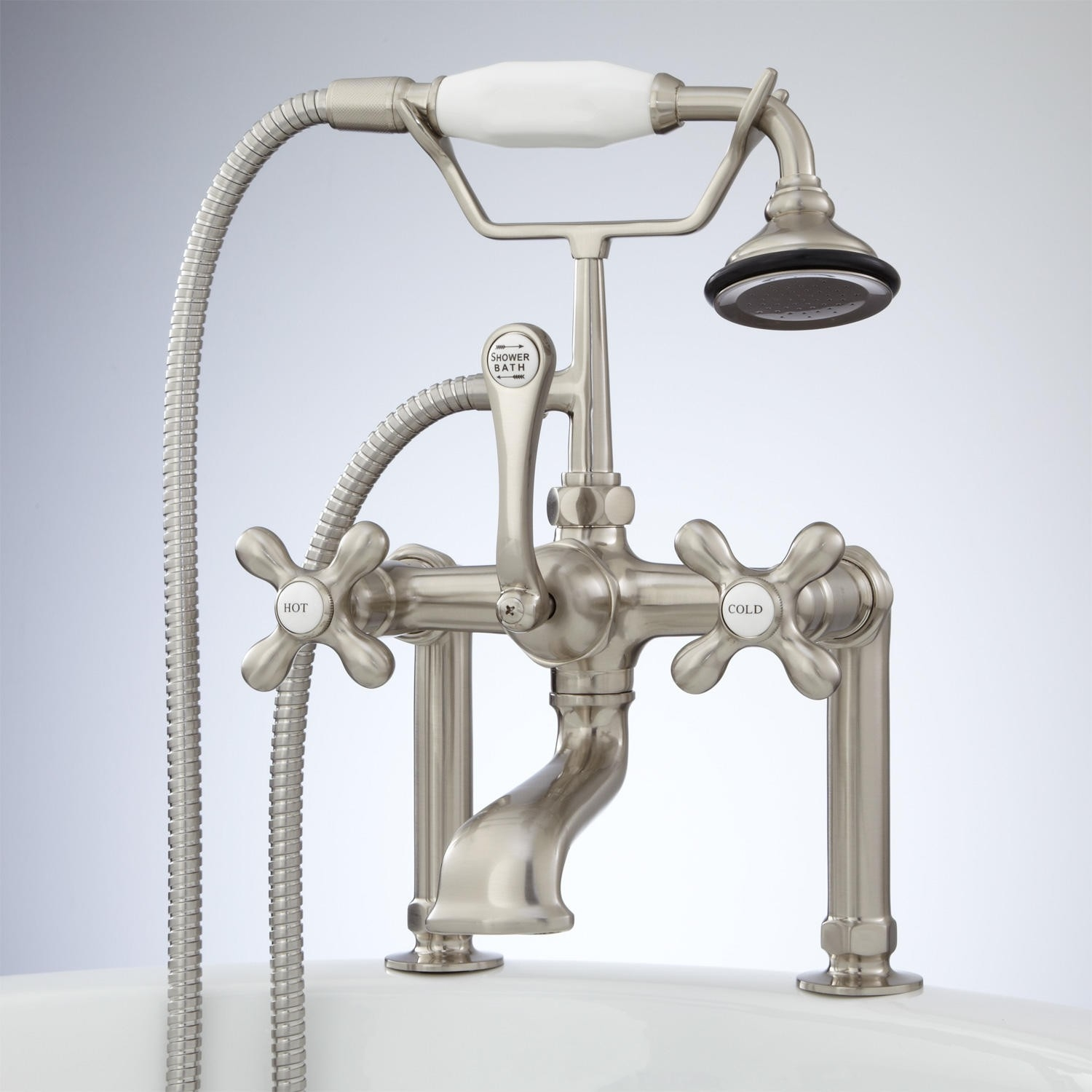 Ideas, deck mount telephone faucet with cross handles and deck couplers inside size 1500 x 1500  .