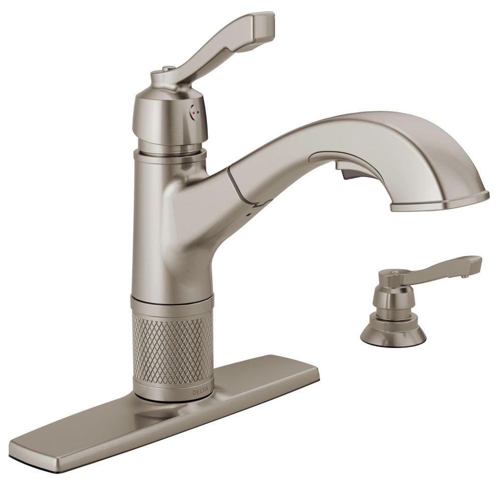 Ideas, delta allentown single handle pull out sprayer kitchen faucet with for dimensions 1000 x 1000  .