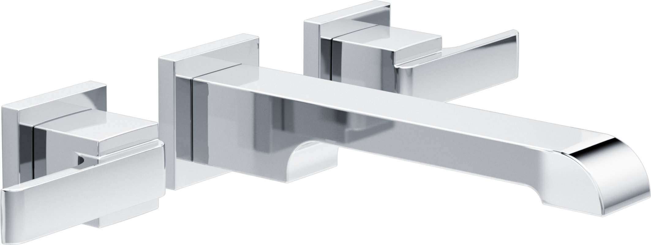Ideas, delta ara two handle wall mount lavatory faucet reviews wayfair throughout measurements 2126 x 800  .