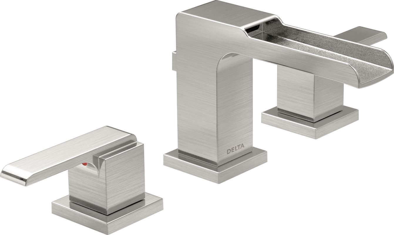 Ideas, delta ara two handle widespread lavatory faucet with channel spout within sizing 1342 x 800  .