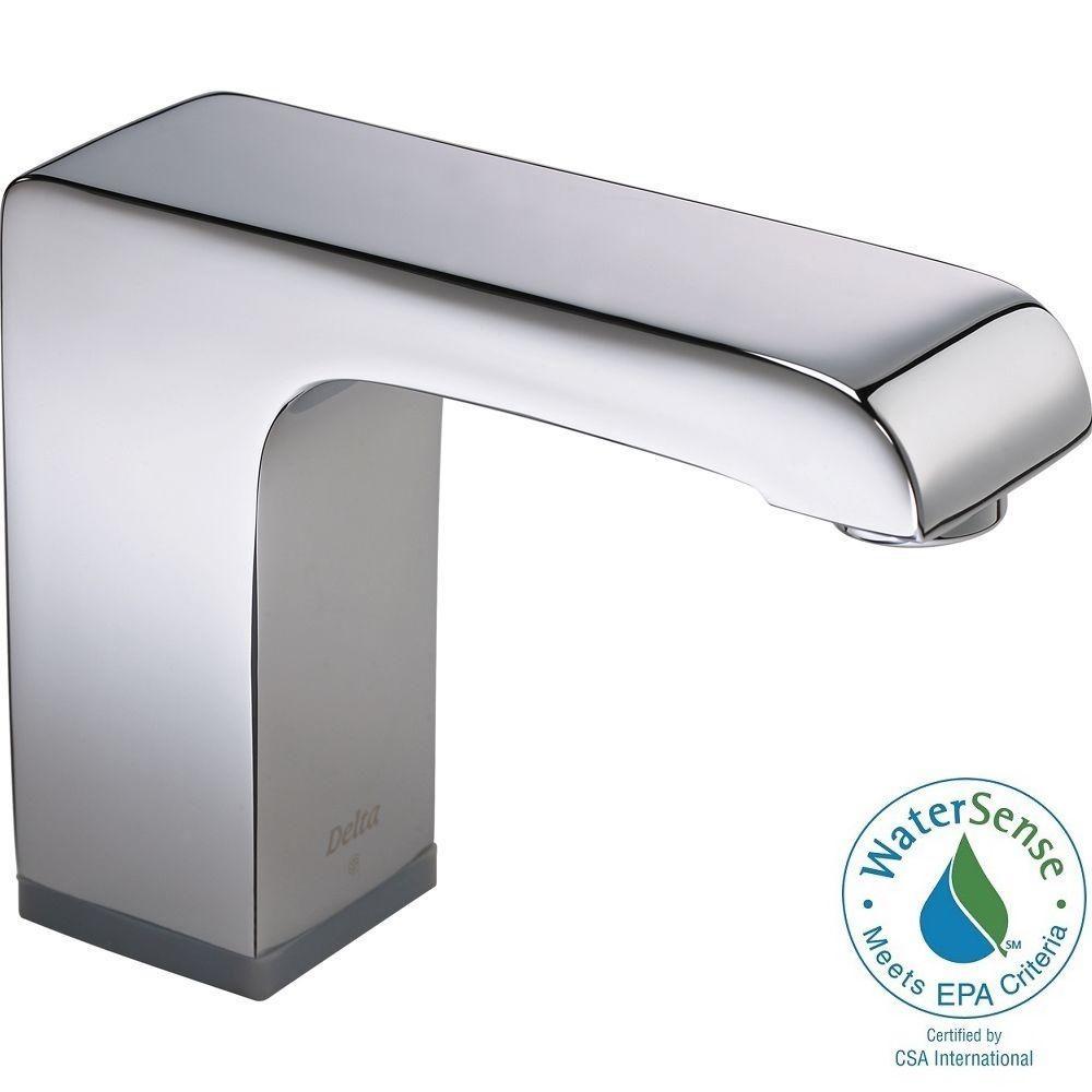 Ideas, delta arzo hardwire single hole touchless bathroom faucet with regarding measurements 1000 x 1000  .