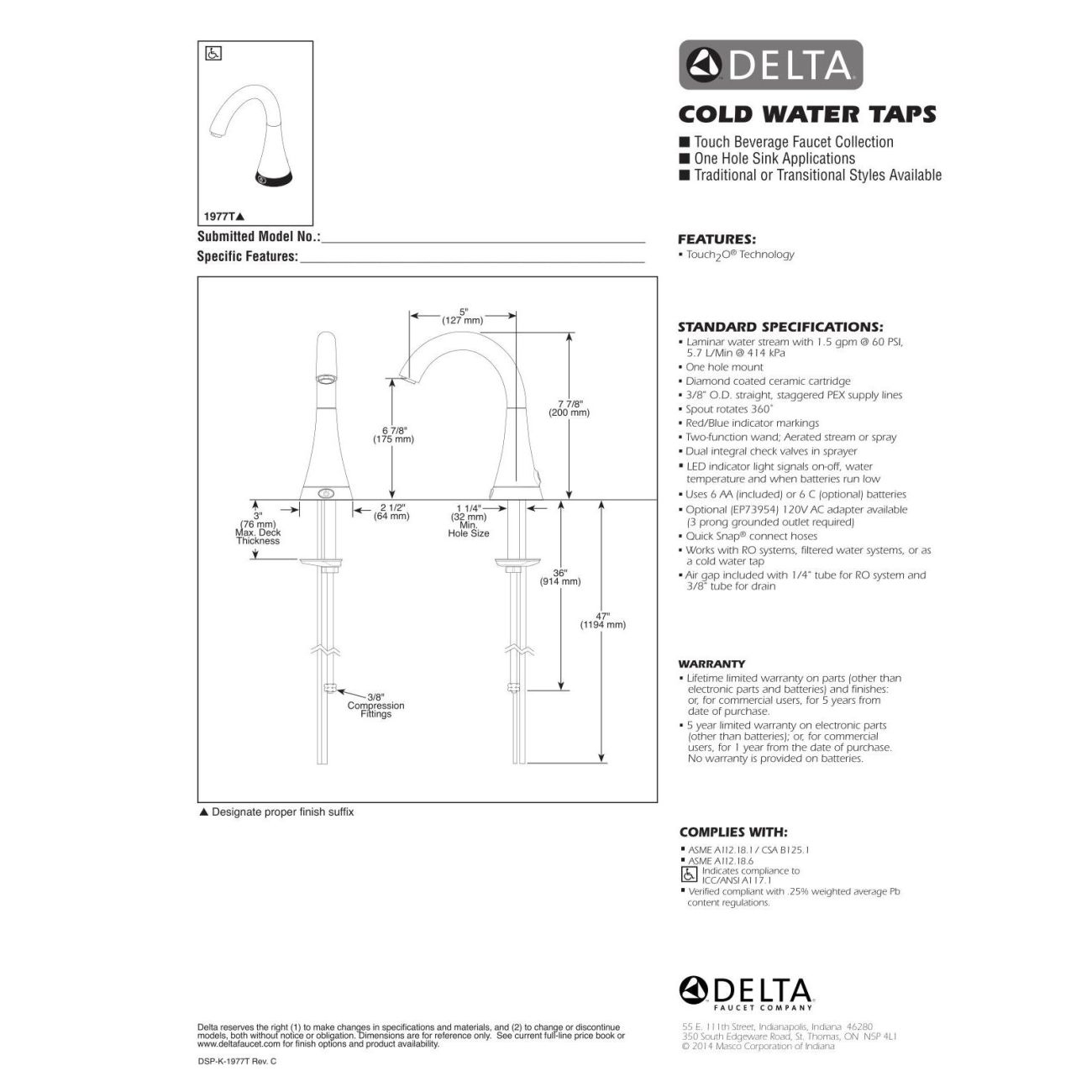 Ideas, delta beverage faucet 1977 delta beverage faucet 1977 delta faucet 1977t ar transitional arctic stainless cold water 1300 x 1300  .