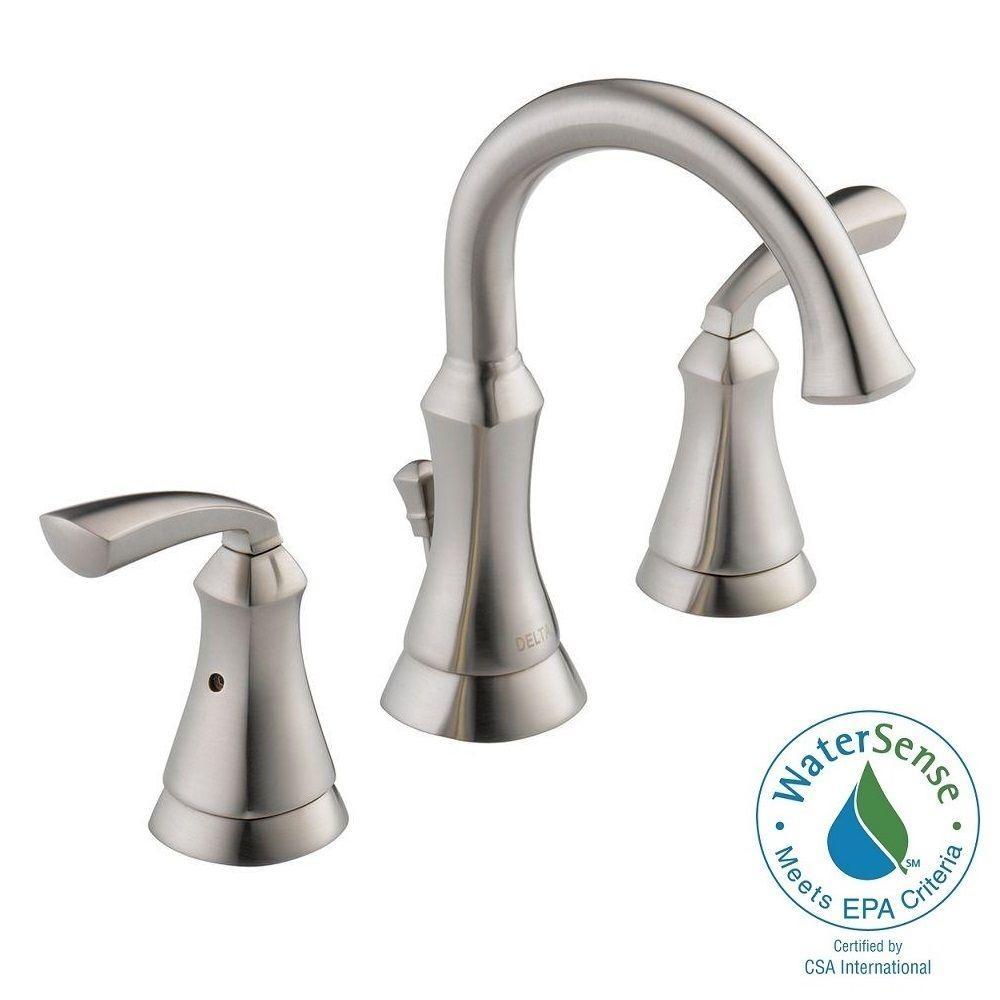 Ideas, delta brushed nickel bathroom faucets delta brushed nickel bathroom faucets delta mandara 8 in widespread 2 handle bathroom faucet in 1000 x 1000  .