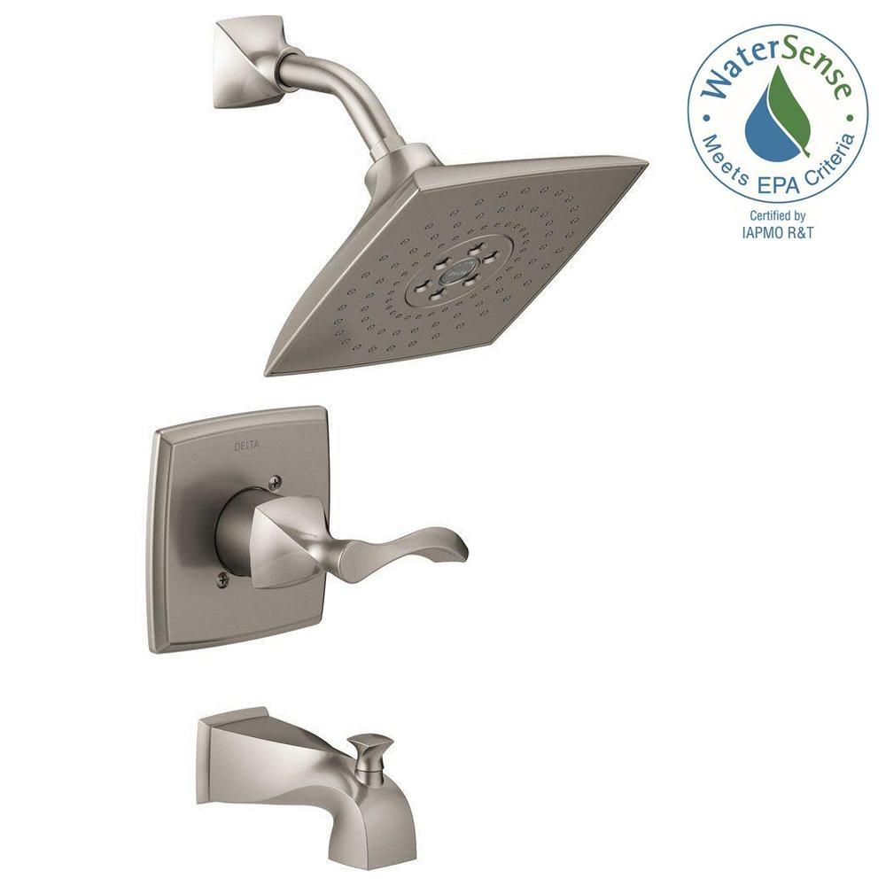 Ideas, delta brushed nickel bathtub faucet delta brushed nickel bathtub faucet delta everly h2okinetic single handle 3 spray tub and shower 1000 x 1000  .