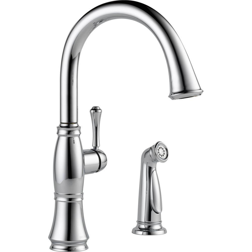 Ideas, delta cassidy touch single handle pull down sprayer kitchen faucet inside dimensions 1000 x 1000  .