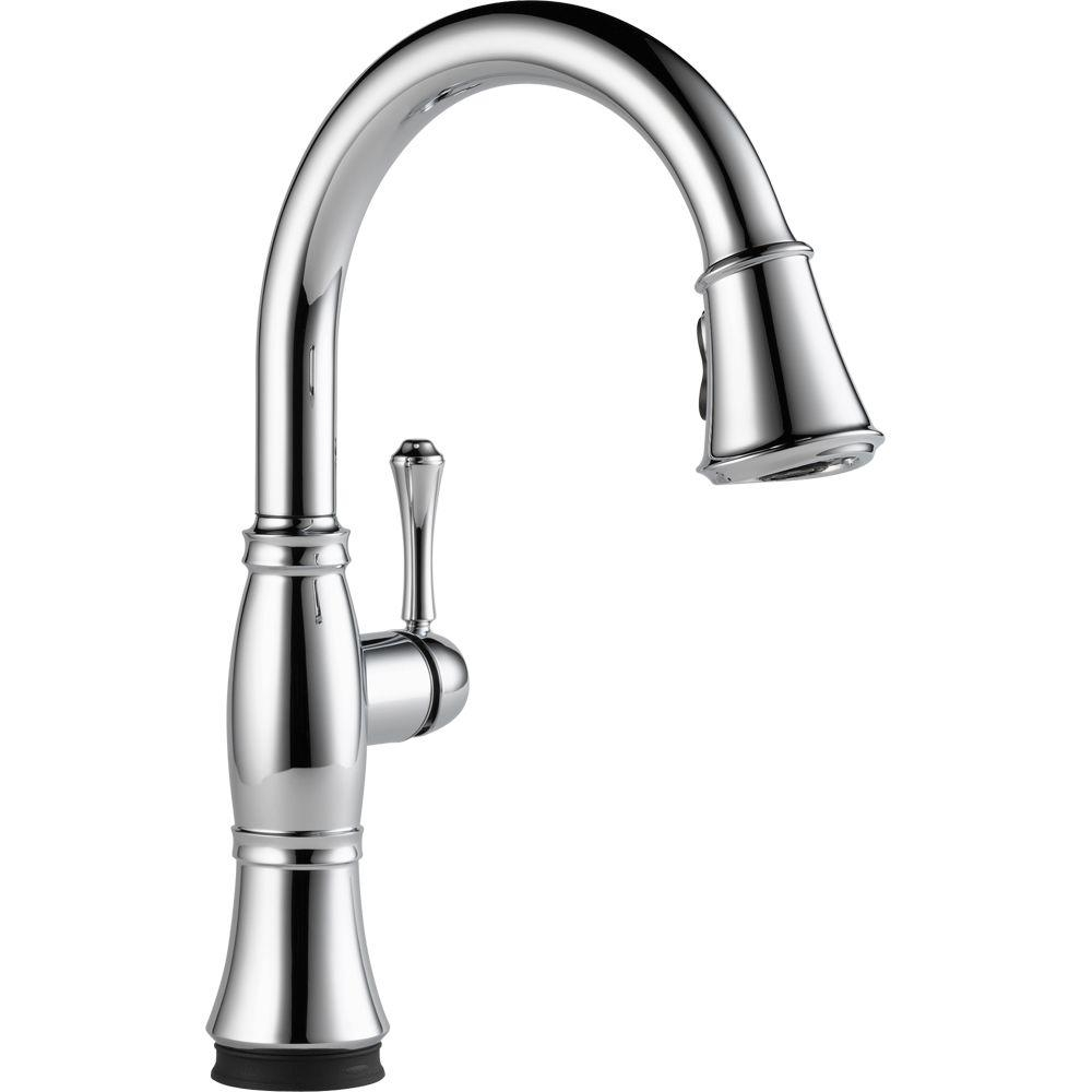 delta cassidy touch single handle pull down sprayer kitchen faucet with regard to measurements 1000 x 1000