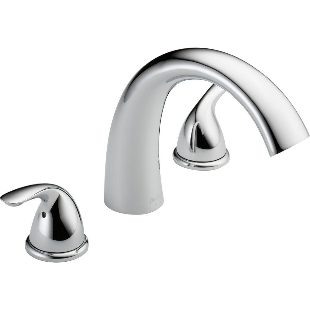 delta classic 2 handle deck mount roman tub faucet trim kit only pertaining to dimensions 1000 x 1000