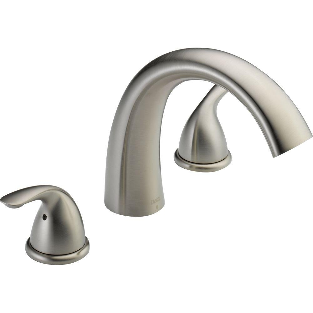 Ideas, delta classic 2 handle deck mount roman tub faucet trim kit only with measurements 1000 x 1000  .