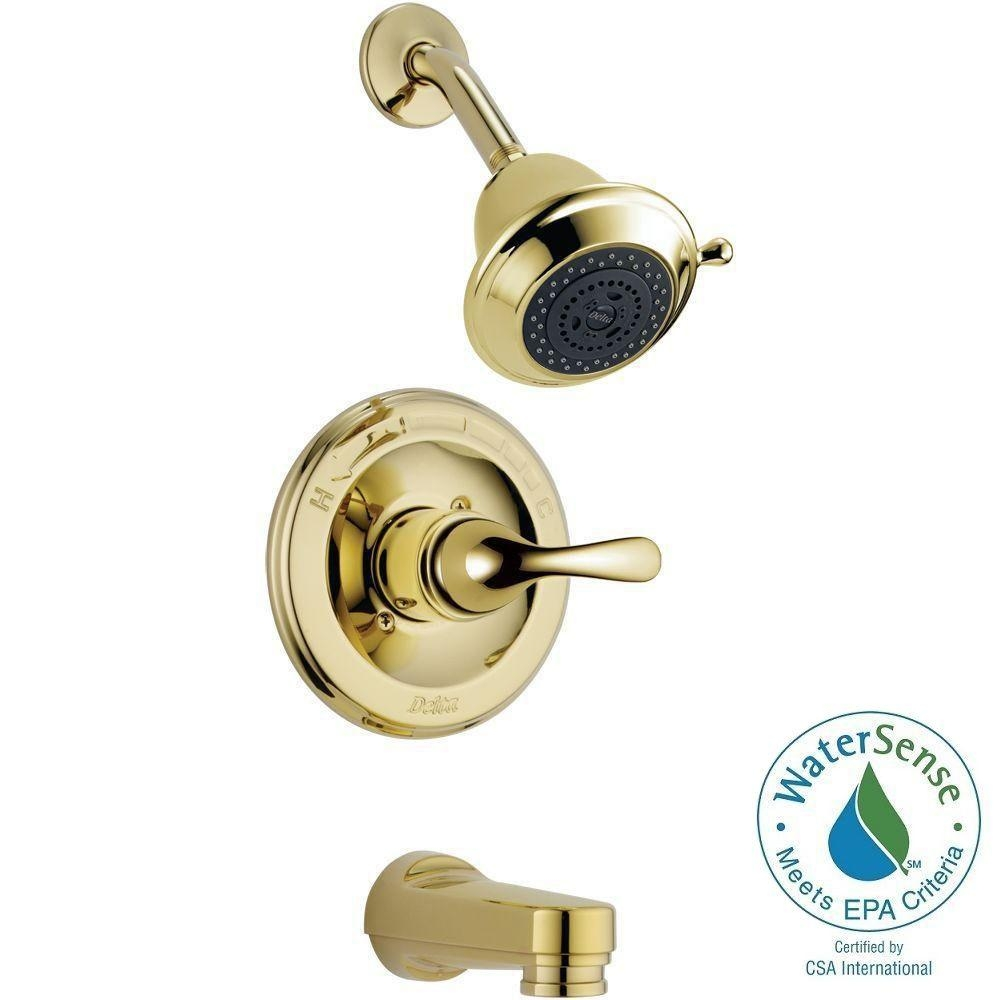 delta classic single handle 3 spray tub and shower faucet in intended for measurements 1000 x 1000