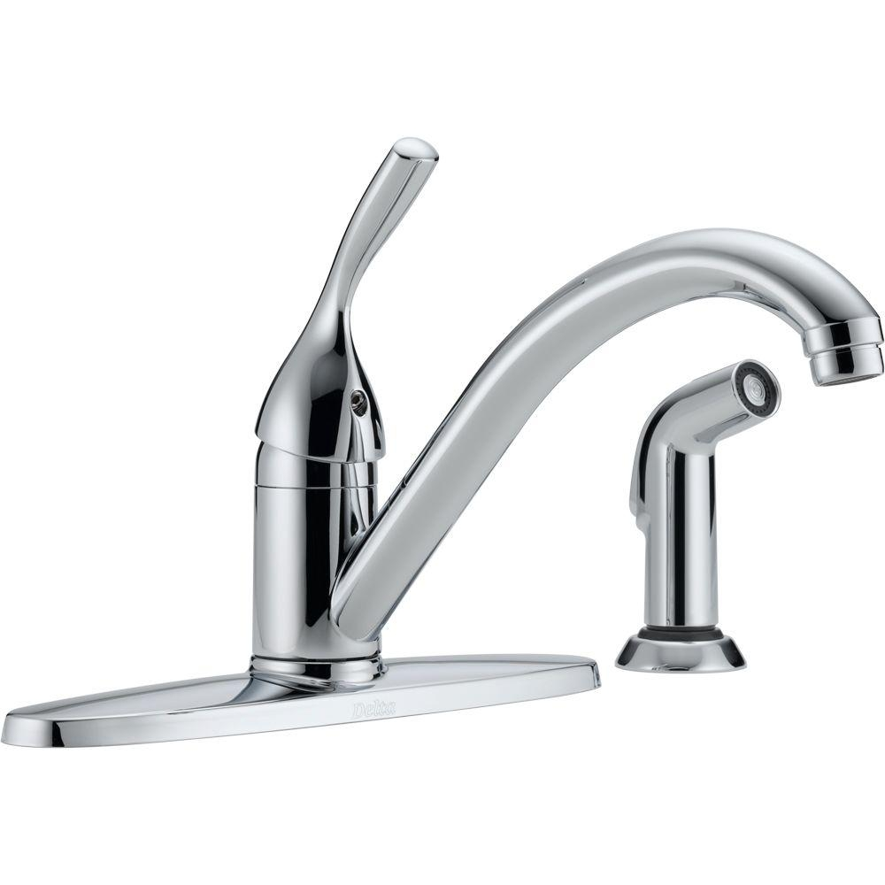Ideas, delta classic single handle standard kitchen faucet with side pertaining to size 1000 x 1000  .