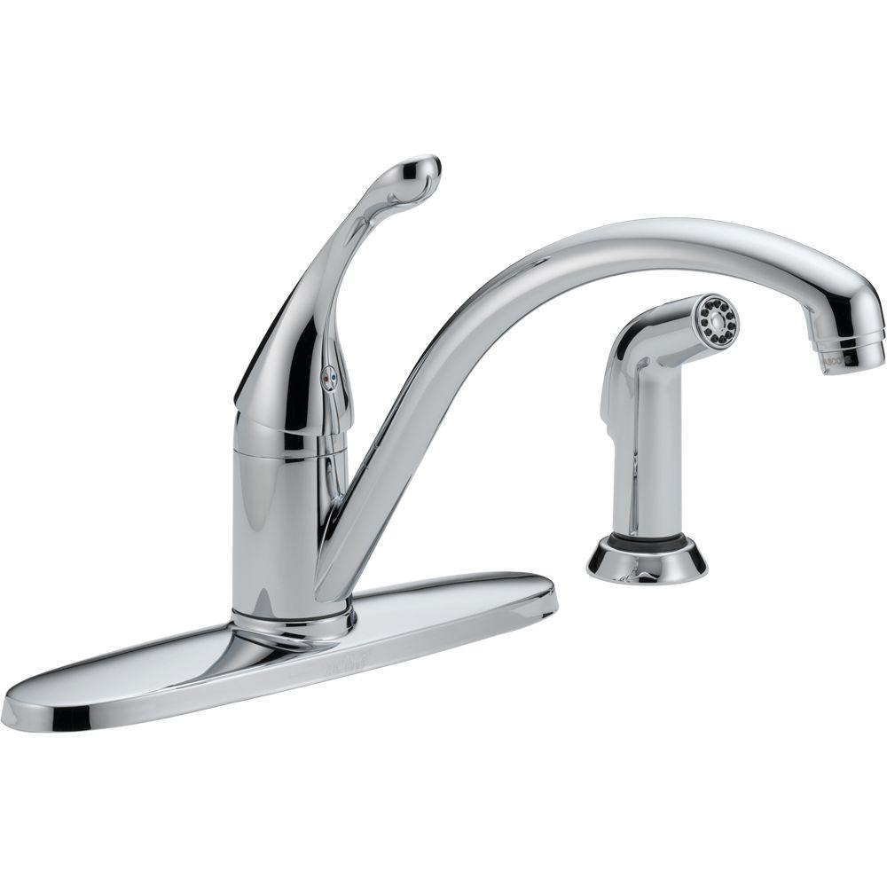 Ideas, delta classic single handle standard kitchen faucet with side within measurements 1000 x 1000 1  .