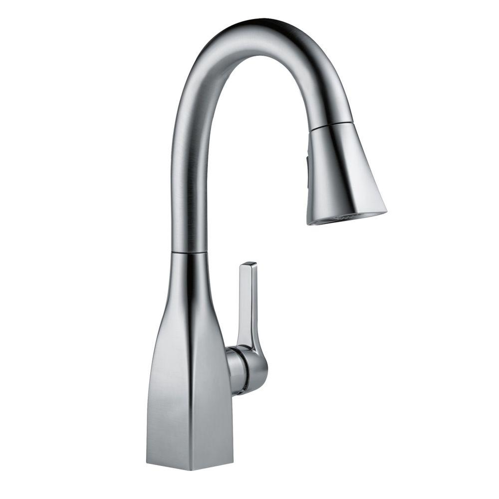 Ideas, delta deluca single handle pull down sprayer kitchen faucet with inside dimensions 1000 x 1000  .