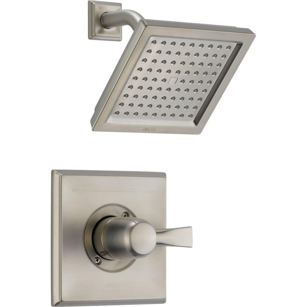 delta dryden 1 handle 1 spray raincan shower faucet trim kit in in size 1000 x 1000