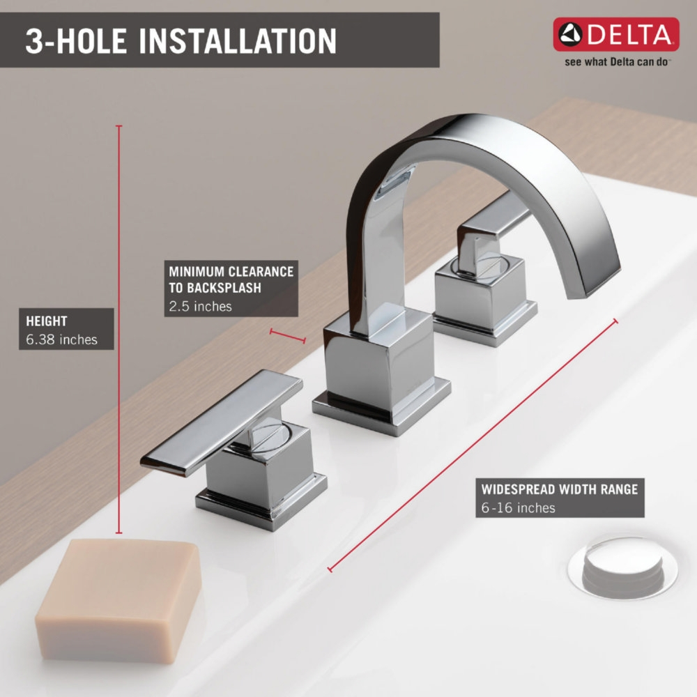 Ideas, delta faucet 3553lf ss vero brilliance stainless two handle with dimensions 1000 x 1000  .