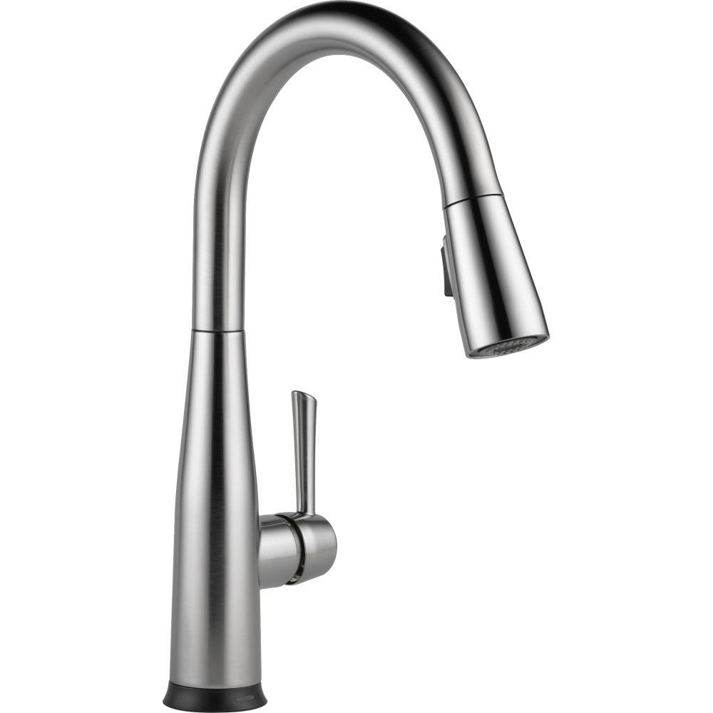 Ideas, delta faucet 9113t dst essa polished chrome pullout spray kitchen with regard to measurements 1000 x 1000  .