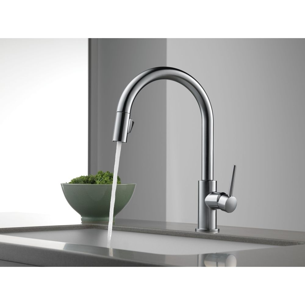 Ideas, delta faucet 9159 dst trinsic polished chrome pullout spray in measurements 1000 x 1000  .