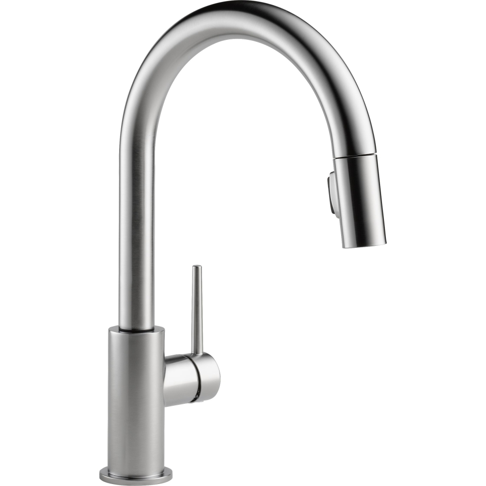 Ideas, delta faucet 9159 dst trinsic polished chrome pullout spray pertaining to size 1000 x 1000  .