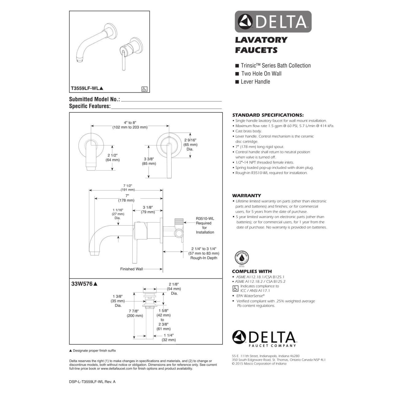 Ideas, delta faucet t3559lf czwl trinsic champagne bronze wall mount in sizing 1300 x 1300  .