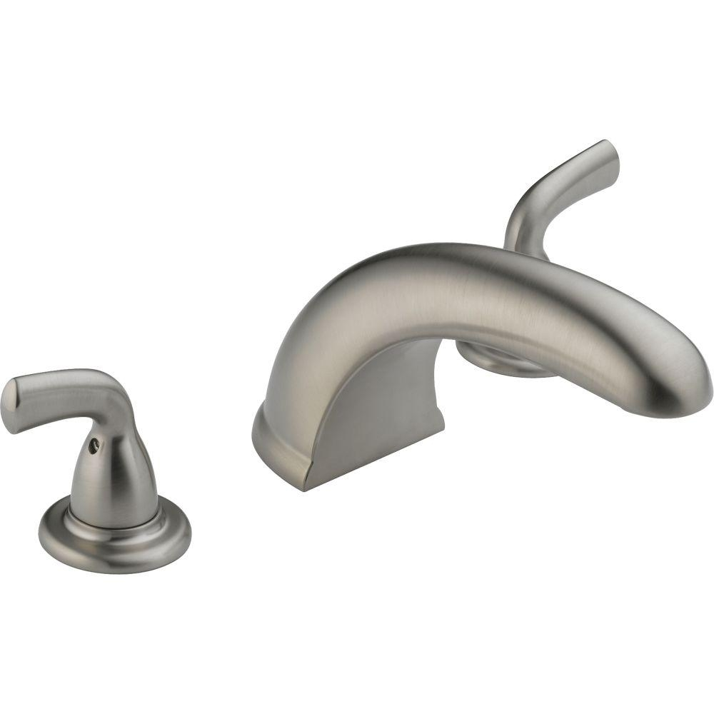 Ideas, delta foundations 2 handle deck mount roman tub faucet trim kit intended for proportions 1000 x 1000  .