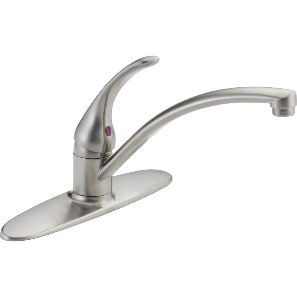 Ideas, delta foundations single handle standard kitchen faucet in regarding proportions 1000 x 1000  .