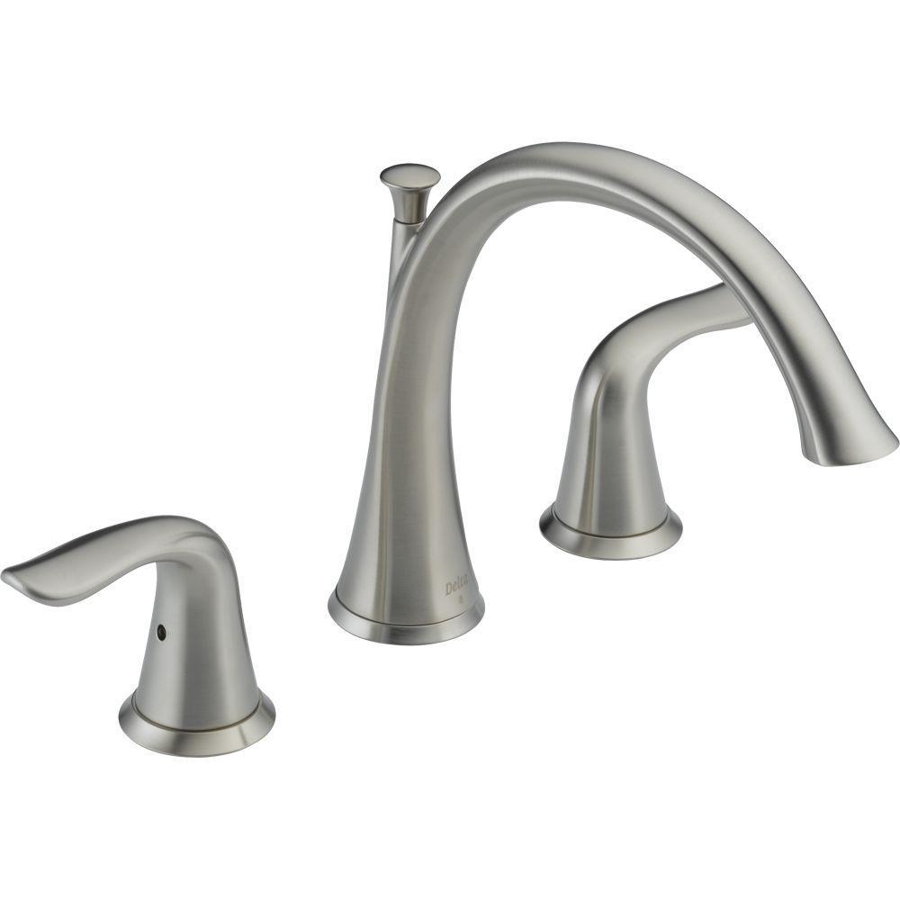 Ideas, delta garden tub faucet diagram delta garden tub faucet diagram delta lahara 2 handle deck mount roman tub faucet trim kit only in 1000 x 1000  .