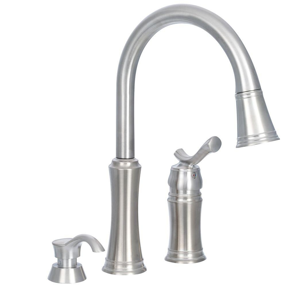 Ideas, delta kate kitchen faucet stainless delta kate kitchen faucet stainless delta lakeview single handle pull down sprayer kitchen faucet with 1000 x 1000  .