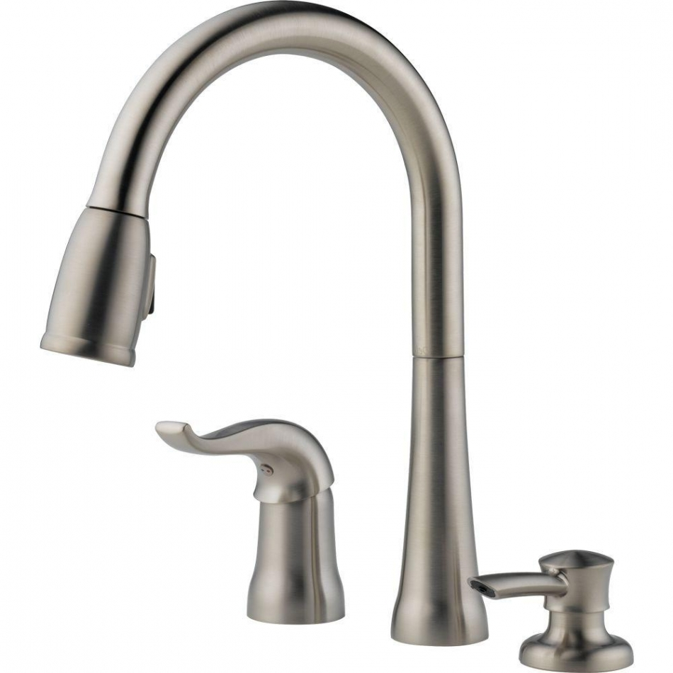 Ideas, delta kate single handle pull down sprayer kitchen faucet with in regarding size 950 x 950  .