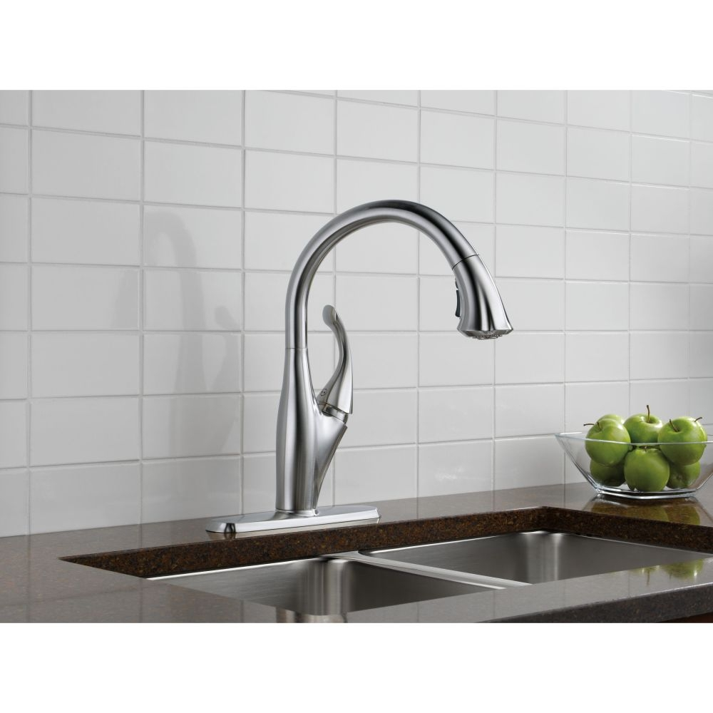 Ideas, delta kitchen faucet 9192 ar dst delta kitchen faucet 9192 ar dst delta faucet 9192 ar dst addison arctic stainless pullout spray 1000 x 1000  .