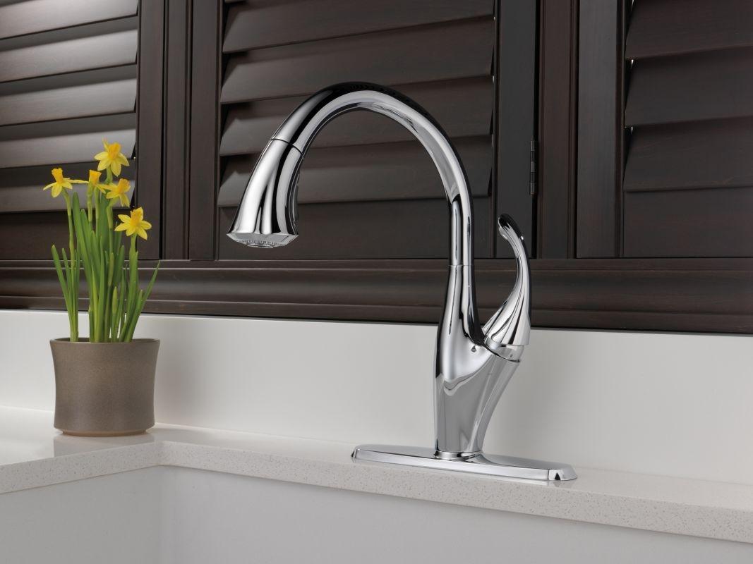 Ideas, delta kitchen faucet 9192 ar dst delta kitchen faucet 9192 ar dst faucet 9192 ar dst in arctic stainless delta 1067 x 800  .