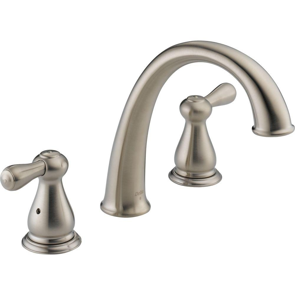 Ideas, delta leland 2 handle deck mount roman tub faucet trim kit only in throughout measurements 1000 x 1000  .