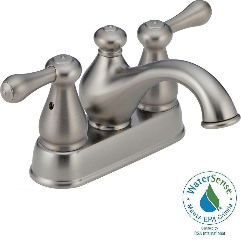 delta leland 4 in 2 handle bathroom faucet in stainless 2578lfss with measurements 1000 x 1000