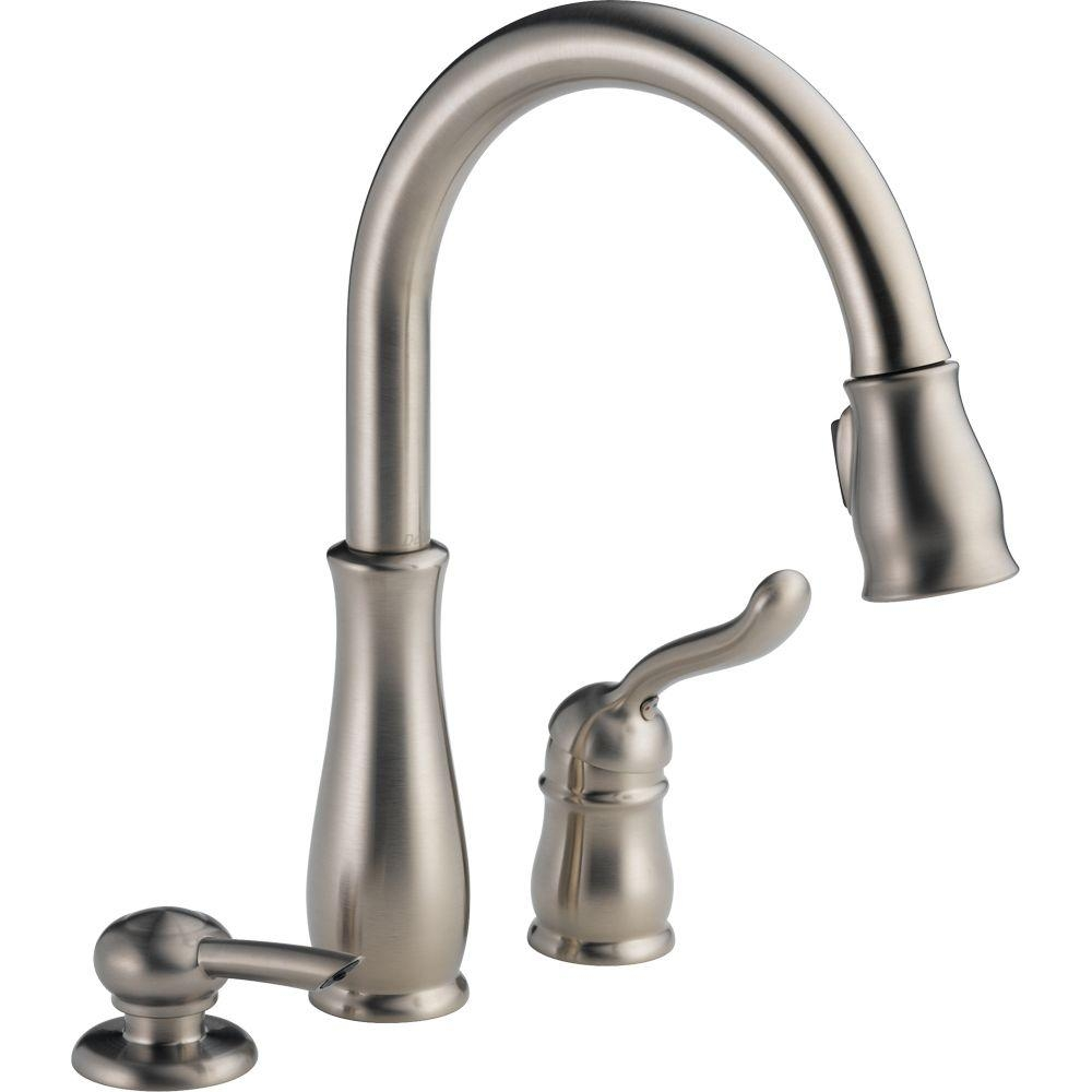 Ideas, delta leland kitchen faucet brushed nickel delta leland kitchen faucet brushed nickel delta leland single handle pull down sprayer kitchen faucet with 1000 x 1000  .