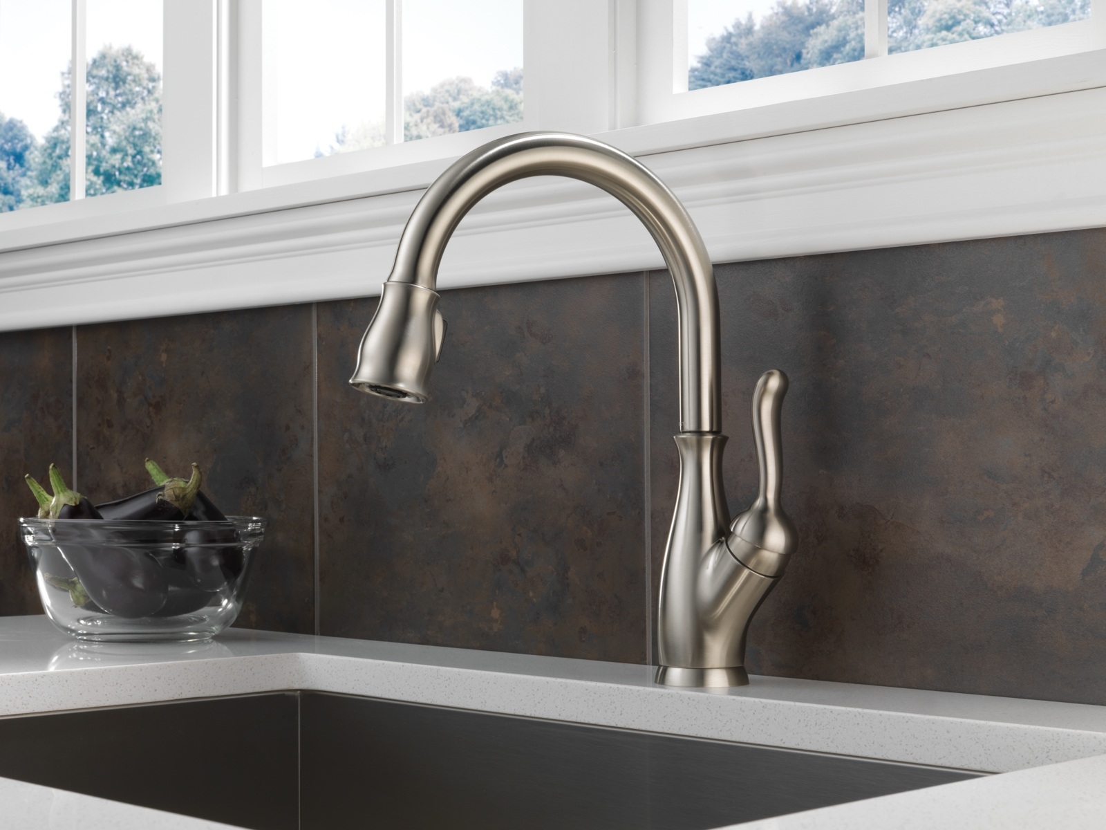 delta leland kitchen faucet brushed nickel delta leland kitchen faucet brushed nickel leland kitchen collection 1600 x 1200