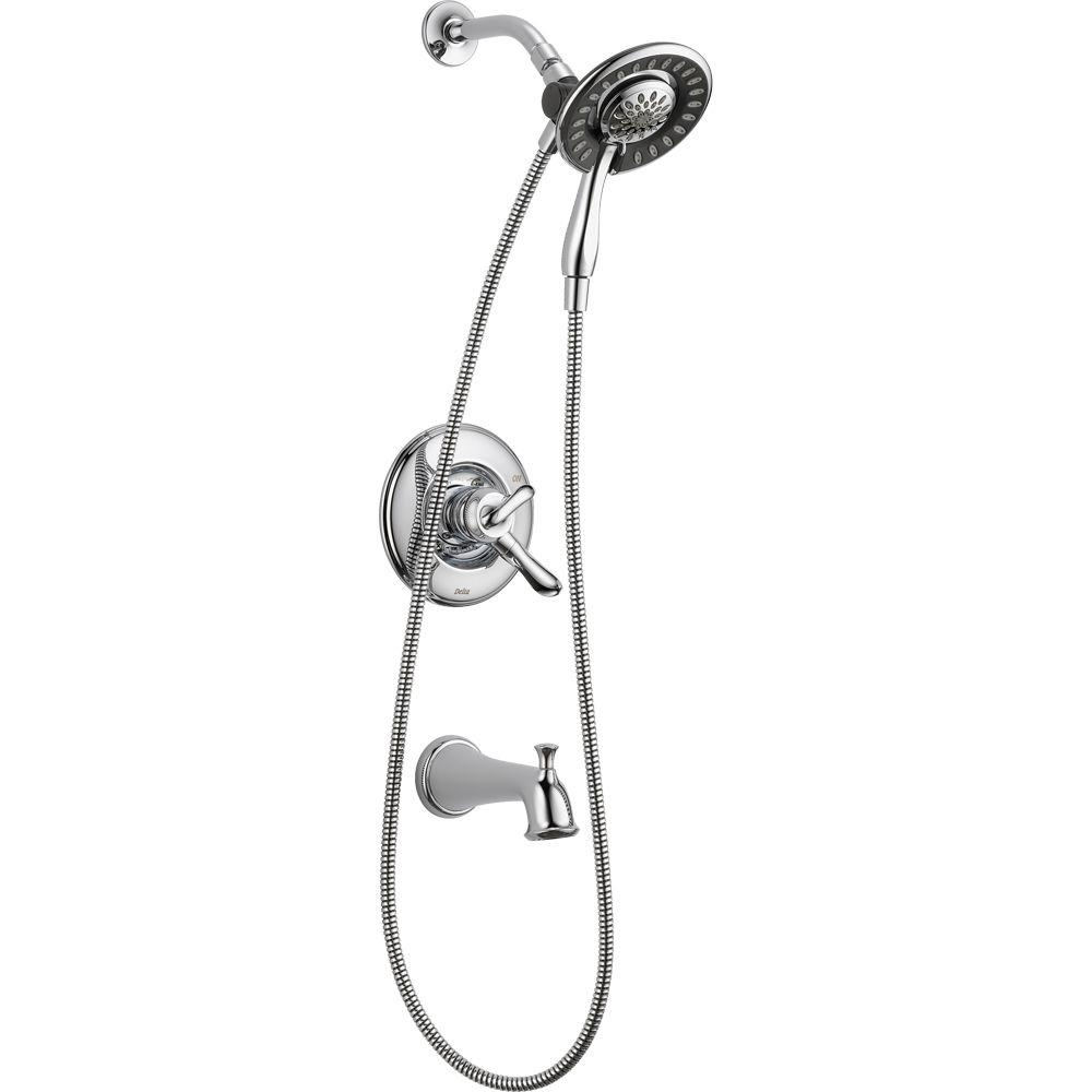 Ideas, delta linden in2ition 1 handle tub and shower faucet trim kit in within sizing 1000 x 1000  .
