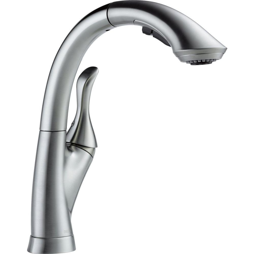 Ideas, delta linden single handle pull out sprayer kitchen faucet with throughout proportions 1000 x 1000  .