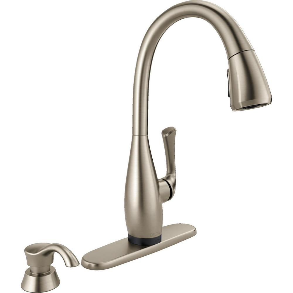 Ideas, delta one touch faucet troubleshooting delta one touch faucet troubleshooting delta dominic single handle pull down sprayer kitchen faucet with 1000 x 1000  .
