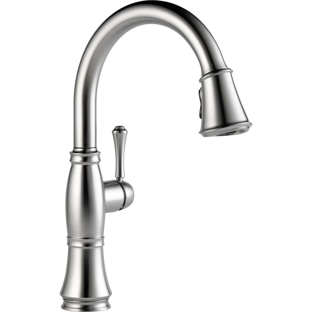 Ideas, delta savile stainless kitchen faucet delta savile stainless kitchen faucet delta cassidy single handle pull down sprayer kitchen faucet in 1000 x 1000  .