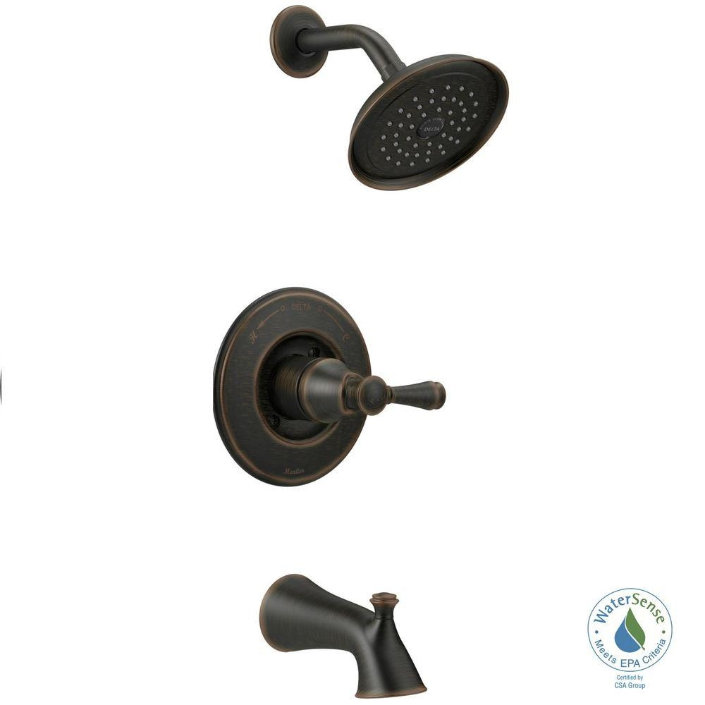 Ideas, delta silverton single handle 1 spray tub and shower faucet in with size 1000 x 1000  .