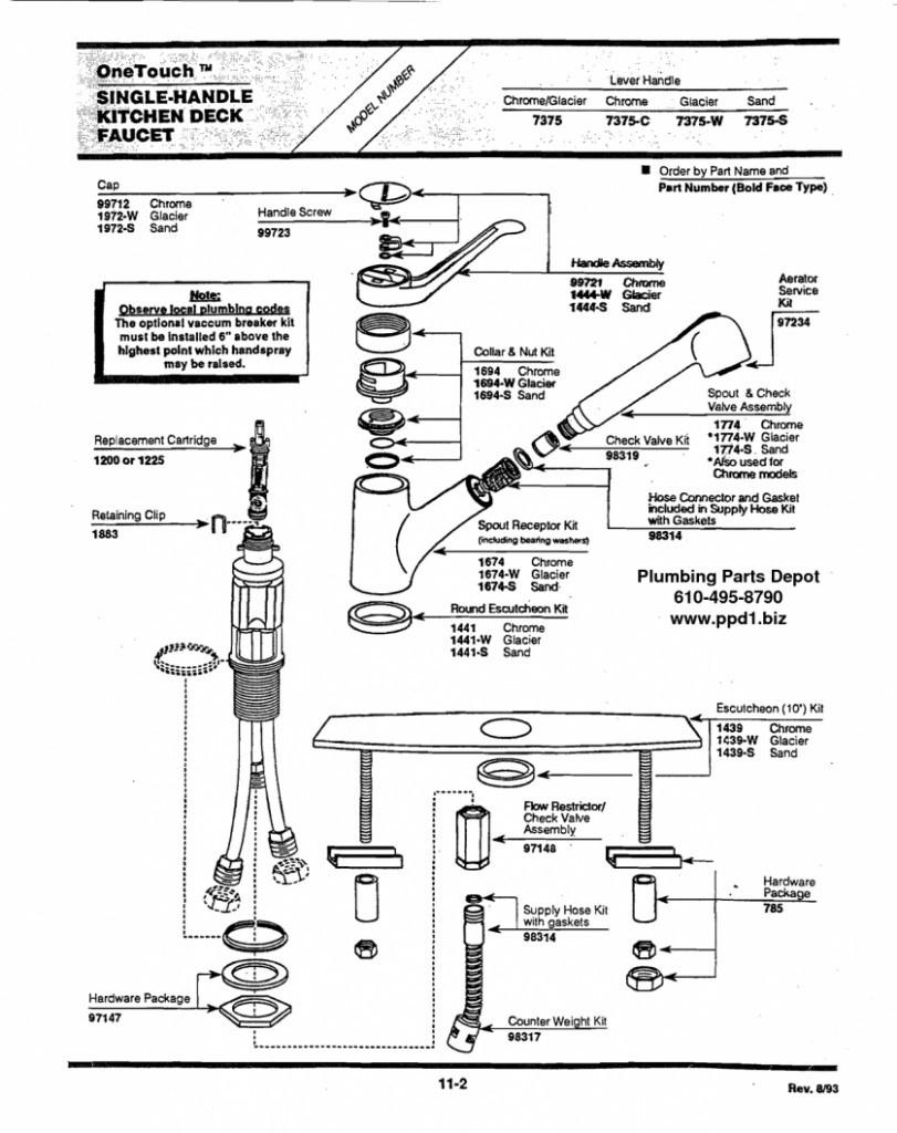 Ideas, delta single handle bathroom faucet repair kit home design regarding size 811 x 1024  .
