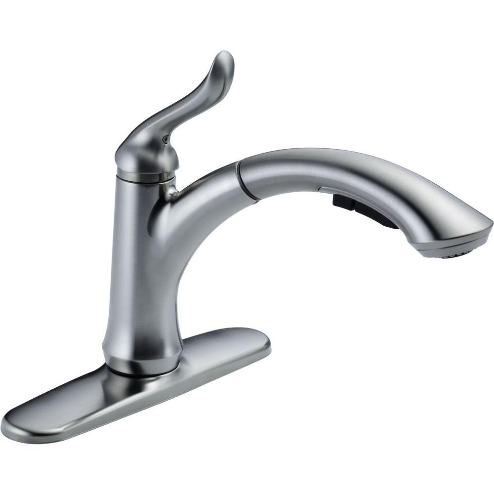 Ideas, delta single hole kitchen faucet with pull out spray delta single hole kitchen faucet with pull out spray delta linden single handle pull out sprayer kitchen faucet with 1000 x 1000  .