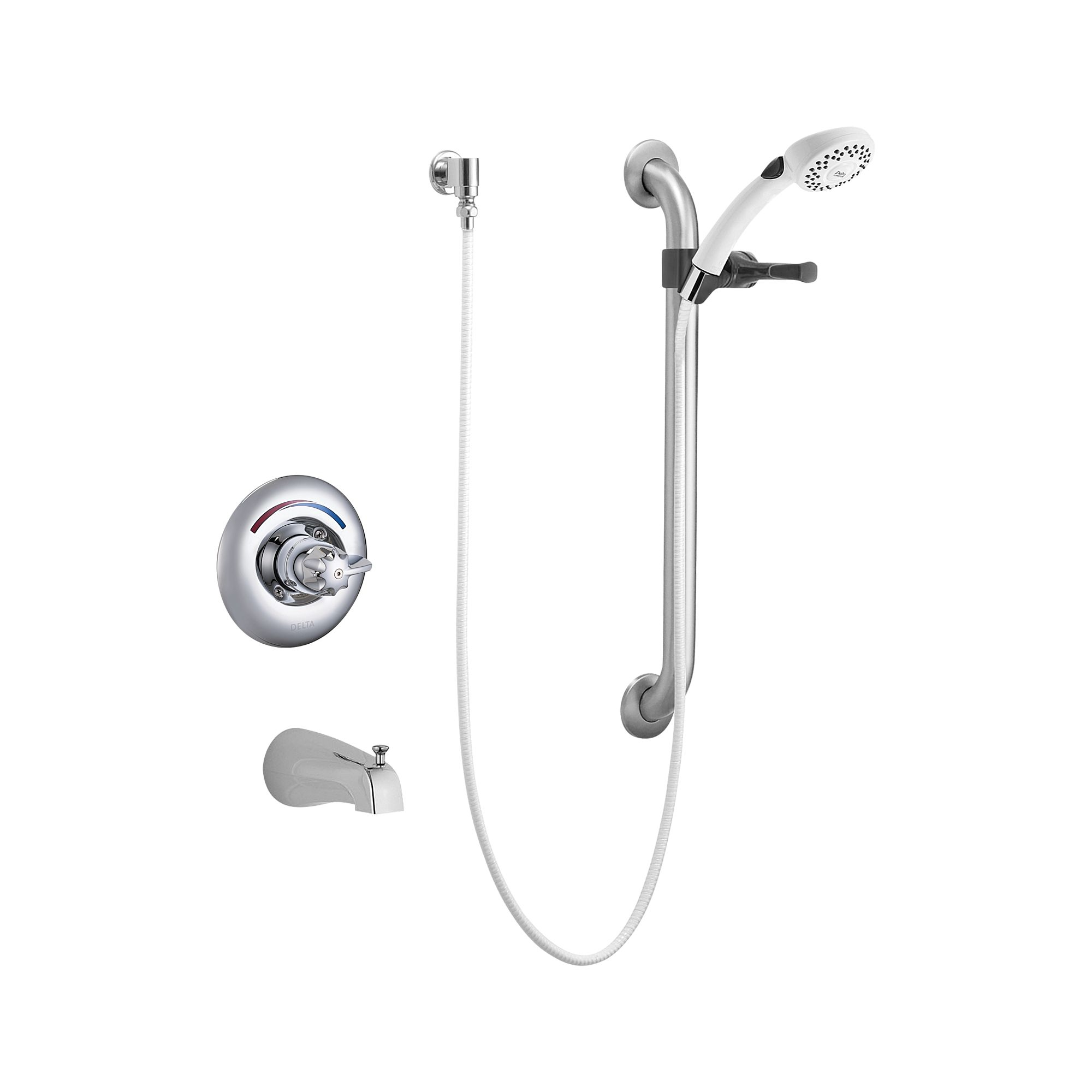 Ideas, delta t13h253 commercial single handle tub and shower valve trim within size 2000 x 2000  .
