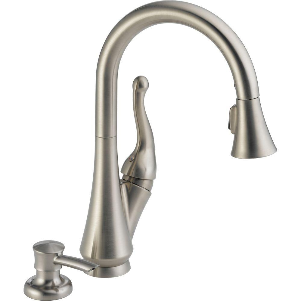 Ideas, delta talbott single handle pull down sprayer kitchen faucet with with sizing 1000 x 1000  .