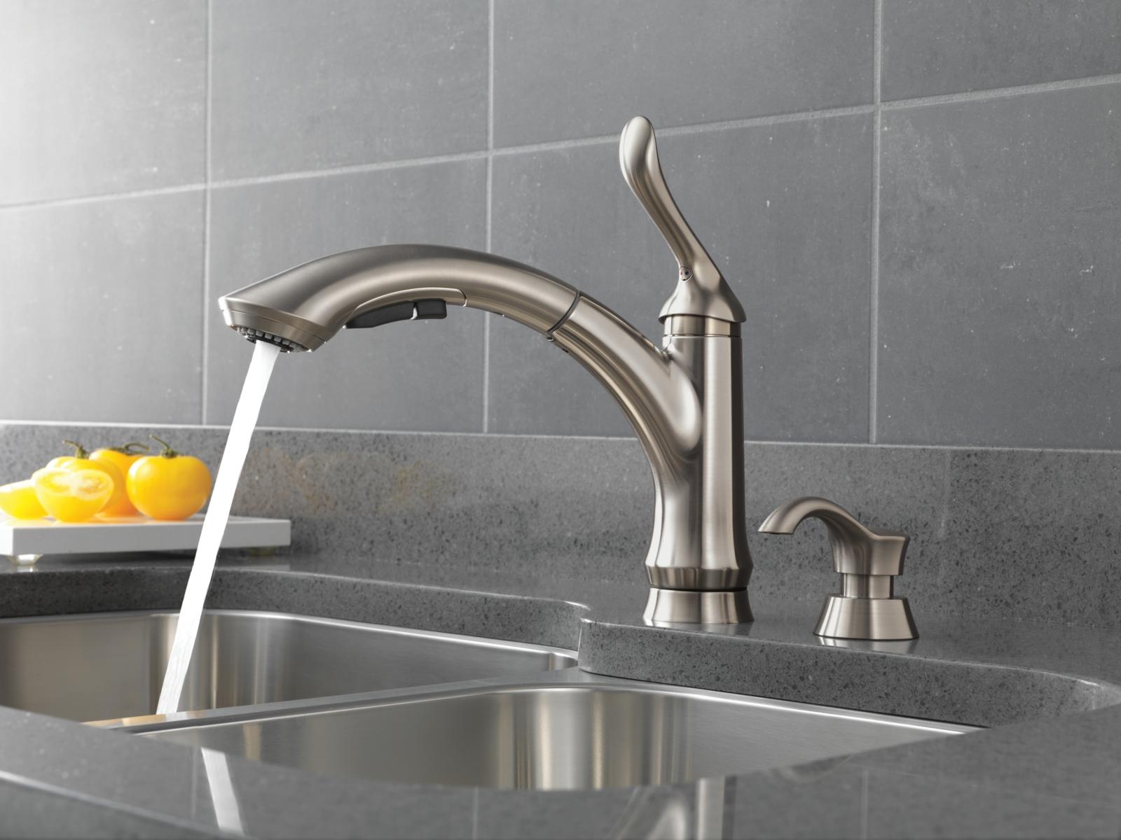 delta touch sink faucet delta touch sink faucet linden kitchen collection 1600 x 1200