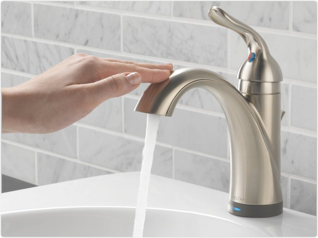 Ideas, delta touchless faucet bathroom delta touchless faucet bathroom latest touchless faucet home design john 1053 x 791  .